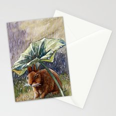 Funny Rabbits - In The Rain 551 Stationery Cards