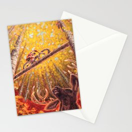 Mountain Station Deer Stationery Cards