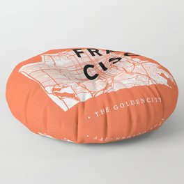 San Francisco Map 04 Floor Pillow