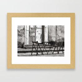 Just Two Chairs - Catania - Sicily - Italy  Framed Art Print