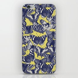 butterfly yellow iPhone Skin