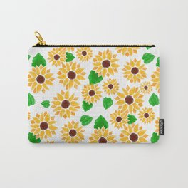 Watercolor Sunflowers Carry-All Pouch
