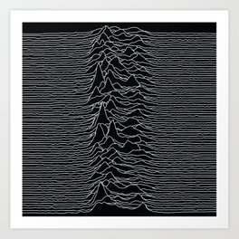 Unknown Radio Waves - Unknown Pleasures Art Print