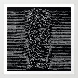 Unknown Radio Waves - Unknown Pleasures Art Print