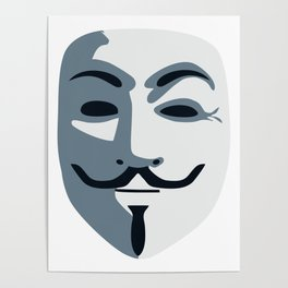 Anonymous Mask #society6 #decor #buyart #artprint Poster