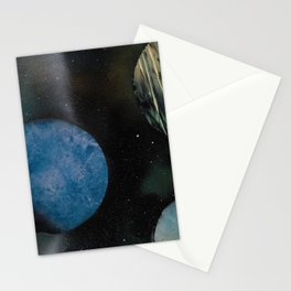 Loads of Planets - Spacescape - Spray Paint Art Stationery Cards