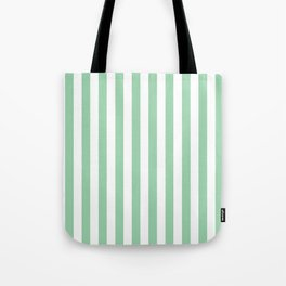 Mint Green Small Even Stripes Tote Bag
