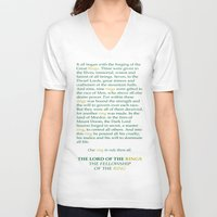lotr V-neck T-shirts featuring LOTR Lord of the Rings Riddle of Strider Quote by FountainheadLtd