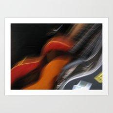Guitars (ANALOG zine) Art Print