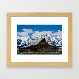 Barn on Mormon Row, Grant Teton National Park Framed Art Print
