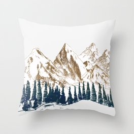 mountains 9 Throw Pillow