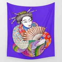 geisha Wall Tapestries featuring Geisha by LuxMundi