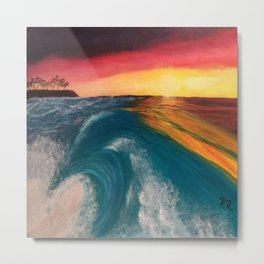 Earth Wave Fire Metal Print