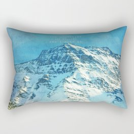 Adventure. The mountains are calling, and I must go. John Muir. Rectangular Pillow
