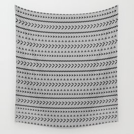 Geometric lines light grey Wall Tapestry