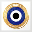Modern Evil Eye Medallion by blueshuttersstudio