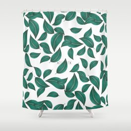 Leaves collage pattern Shower Curtain