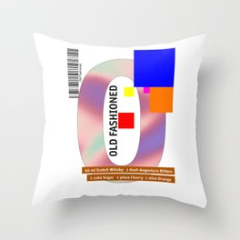 """Cocktail """"O"""" - Old Fashioned Throw Pillow"""