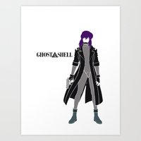 ghost in the shell Art Prints featuring Ghost in the Shell by Krbshadow