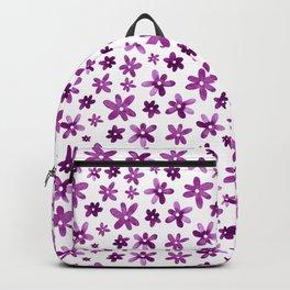 Watercolor Purple Florals Backpack