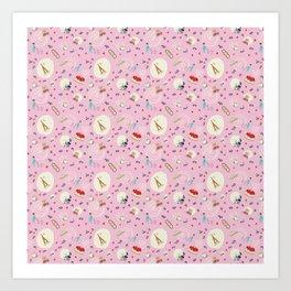 Paris pattern Art Print