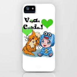 I love vegan cookies iPhone Case