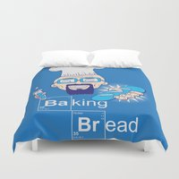 baking Duvet Covers featuring Baking Bread by DarkChoocoolat