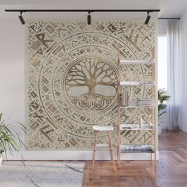 Tree of life -Yggdrasil Runic Pattern Wall Mural