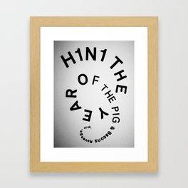Year of the pig Framed Art Print