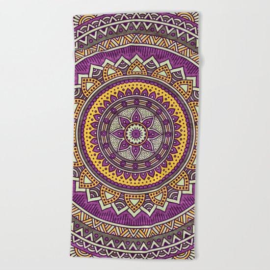 Hippie mandala 62 Beach Towel