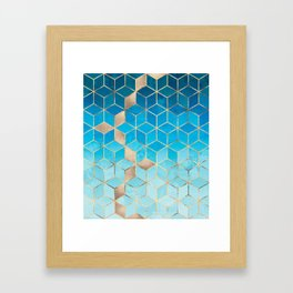 Sea And Sky Cubes (Custom Request) Framed Art Print