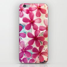 Flowers in crystal iPhone & iPod Skin
