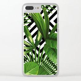 Tropical Jungle Pattern Clear iPhone Case