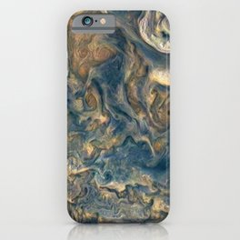 Surface of Jupiter Atmosphere Telescopic Photograph iPhone Case