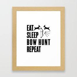 Hunter Bowhunter Bowhunting Huntress Huntsman Gift Framed Art Print