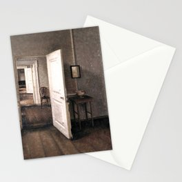 The Four Rooms by Vilhelm Hammershøi - Norwegian Fine Art - Hammershoi Stationery Cards
