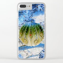 Winter Holiday Clear iPhone Case