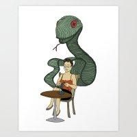 Knit Snake Art Print