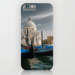 Venice Cathedral Italy St Maria of Salute Basilica Boats Marinas Houses Cities Pier Berth Building iPhone Case