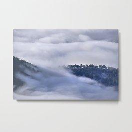Memories. Into the foggy mountains. Spain.  Metal Print