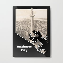 Washington Monument, Baltimore Metal Print
