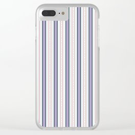 Purple and Red Stripe Clear iPhone Case