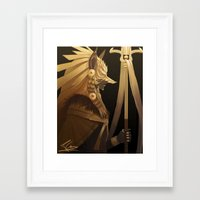 black and gold Framed Art Prints featuring Black & Gold by Cruz'n Creations
