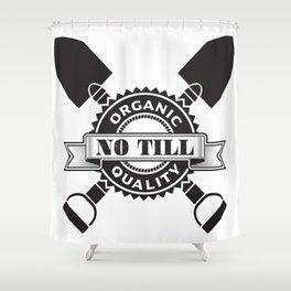 No Till Logo Shower Curtain