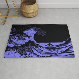 The Great Wave Periwinkle Lavender Rug