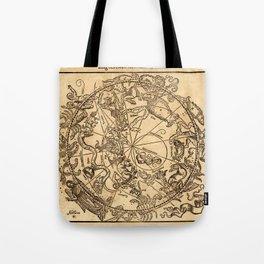 Vintage Constellation Chart 1541 Tote Bag