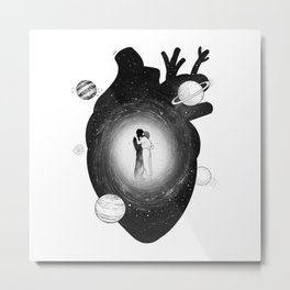 Our one heart. Metal Print