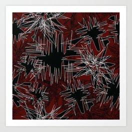 Red Chaos Art Print