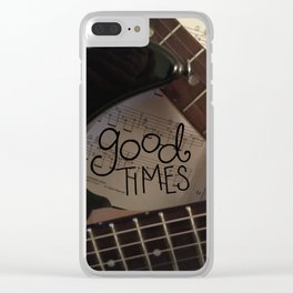 Good times music and guitars meet Clear iPhone Case