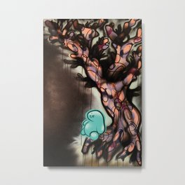 The Year 2020 When Trees Give Birth to People There Will be Balance and the Night Shall Sleep Again Metal Print